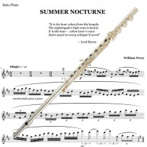 Summer Nocturne Solo Flute Part plus Piano Reduction